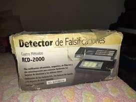 Detector de falsificaciones. Detector de dinero falso