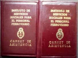 2 Carnets del Istituto de Servicios Sociales Ferroviarios