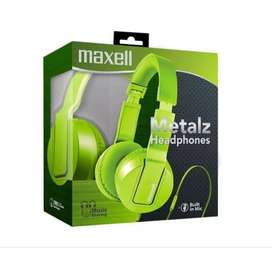 Diadema Maxell Solids Metalz Headphones Microfono Manos Libr