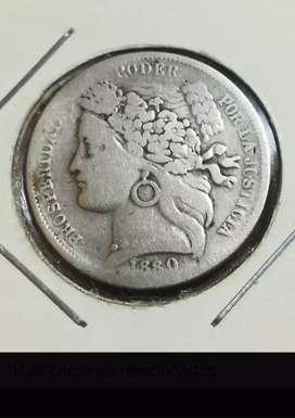 Moneda de plata 1 peseta