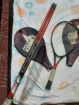Vendo 2 raquetas  de tenis