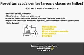 Clases personalizadas en Inglés o español de Matemática, Estadística, Economía, Econometría, Microeconomía, Finanzas
