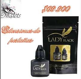 Adhesivo Lady Black