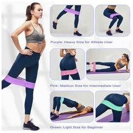 Kit de 3 bandas elásticas de resistencia tela fitness