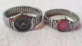 Relojes de metal y de goma
