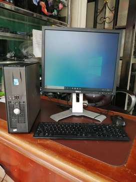 Computador de Escritorio marca Dell, Windows 10 PRO 2020 64 bits, Monitor 19 pulgadas