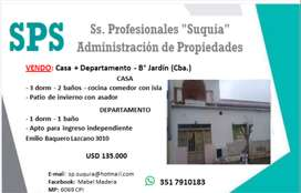 VENDO: Casa + Departamento - B° Jardín (Cba.)