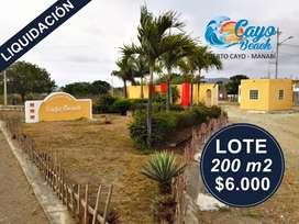 Venta de Terrenos en La Playa, Lotización Cayo Beach, Puerto Cayo Manabi, SOLO EN EFECTIVO , S1