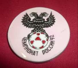 raro PIN TIPO BOTON LOGO DE LA PRIMERA LIGA DE FUTBOL DE RUSIA 1992 DISTINTIVO