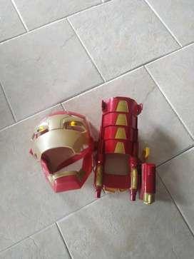 Máscara musical con guante de IRON MAN