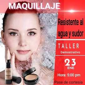 Taller Demostrativo de maquillaje a prueba de agua y sudor