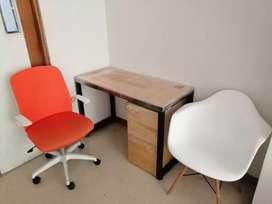Vendo Escritorio con archivador y silla reclinable