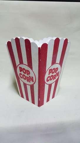 PAPELERA EN MADERA DE POP CORN U.S.A.
