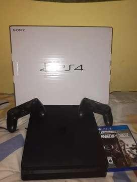 Playstation 4 de 1TB 2 joysticks 1 juego físico y 3 juegos digitales