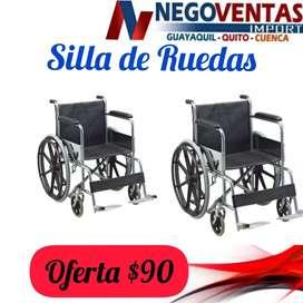 SILLA DE RUEDA METALICA REFORZADA PESO MAXIMO 200 LIBRA