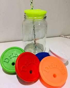 Frasco De Mermelada 360 Con Tapa Drinks Y Sorbete $