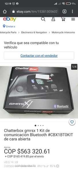 Par Intercomunicadores para casco moto chatterbox gmrsx