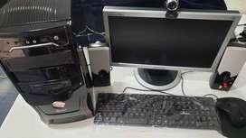Computador de escritorio CPU core 2 quad a 2.87 Ghz con SSD y 3 gigas de ram