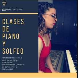 Clases particulares de piano y solfeo