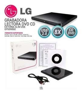 Multigrabador DVD Externo LG Gp65nb60 Ultra Slim Portable