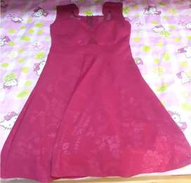 VESTIDO COLOR GRANATE TALLA STANDAR