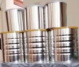 Envases de latón - latas vacias con tapa
