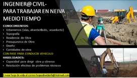 INGENIER@ CIVIL MEDIO TIEMPO