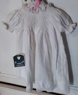Vestido blanco para 12 meses aprox.