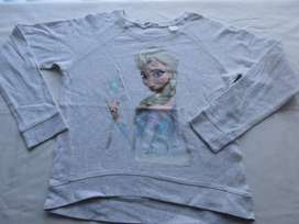 Buzo sin frisa de Frozen, original Disney!, para nena, marca europea!, impecable!