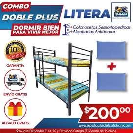 !!! MEGA COMBOS !!! LITERAS METÁLICAS // LITERAS // Colchones // LLAME EL PALACIO DEL COLCHON // ENTREGA GRATIS //