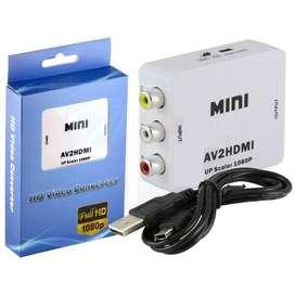 Adaptador Convertidor Rca A Hdmi Con Audio 1080p + Delivery