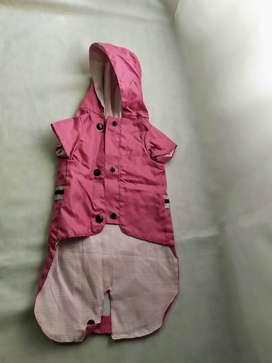 piloto para perro chico pilú pet´s design rosa con capucha