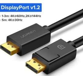 Cable de video Display Port DP,  4K,1.2 Mt UNGREEN