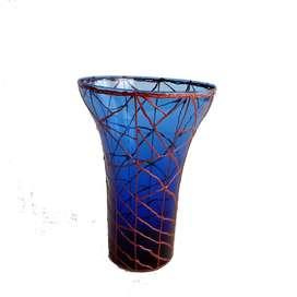 jarron florero en vidrio