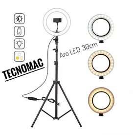 Aro LED 30cm + trípode 2.1M