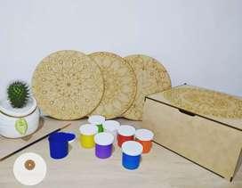 Kit de Mandalas en madera para pintar