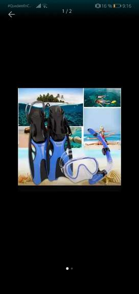 Kit de Snorkel azul buceo