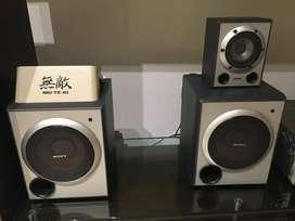 Equipo de sonido completo Sony Muteki con torre y todos los bafles