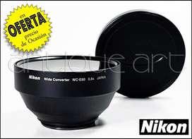 A64 Lente Conversor Nikon Wc-e80 Angular Ojopez Coolpix 0.8x