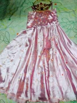 Disfraz de princesa rosado talla 6