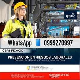 CERTIFICACION POR COMPETENCIAS EN RIESGOS LABORALES - 099927099 EN LATACUNGA7
