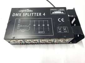 DMX Splitter 4 Amplifier , Marca NightSun , Modelo GM035