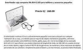 ESTERILIZADOR CAJA COMPAACTA 59 S 8-UVC LED TELEFONO