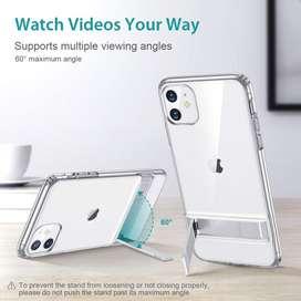 ESR Case Soporte de metal diseñado para iPhone 11, soporte vertical y horizontal, protección reforzada contra caídas, TP