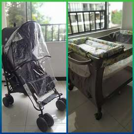 Coche Mclaren y Corral Baby Nursery Center