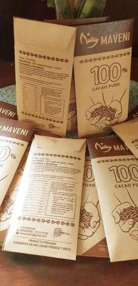 Pasta de cacao 100% puro