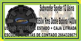 CAJA DE AUDIO C/SUBWOOFER USINA