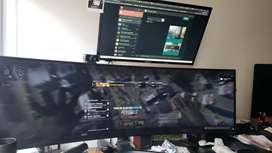 Monitor corporativo curvo de 49 in con pantalla súper ultraamplia de 32:9