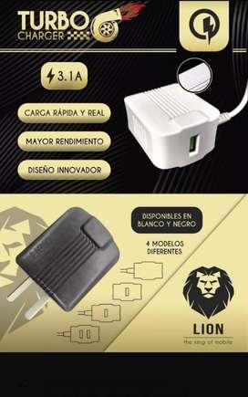 Cargador Rapido Lion 3.1a Y2 Salidas Usb