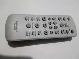Control remoto equipo de sonido sony